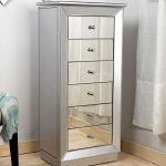 Stainless Large Jewelry Armoire