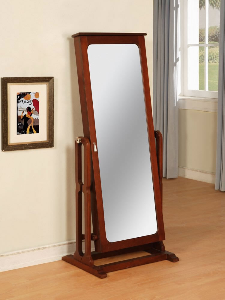 System Cheval Mirror Jewelry Armoire