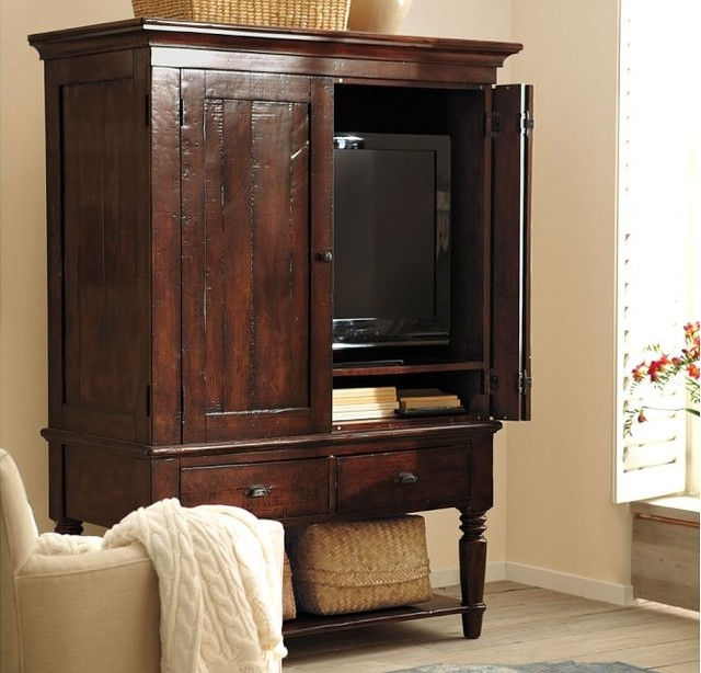 Traditional TV Armoire Cabinet