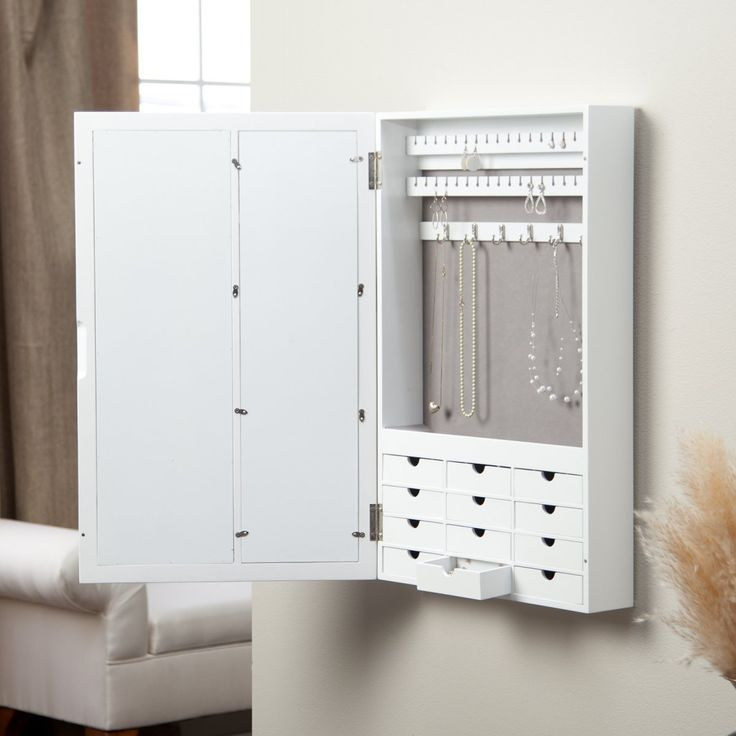 White Jewelry Cabinet Armoire