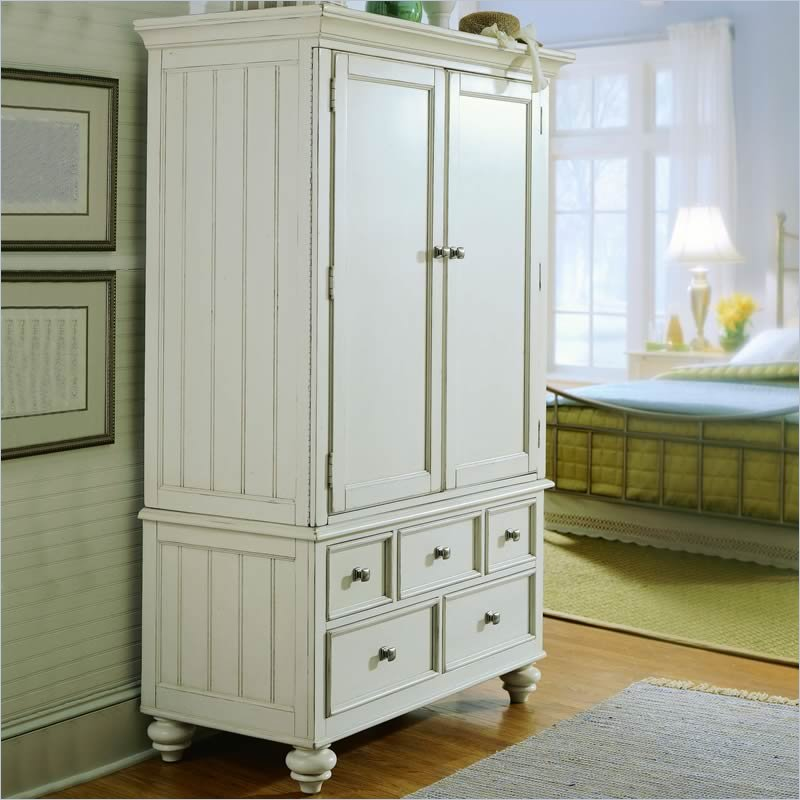 White Narrow Armoire