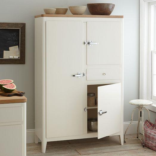 White West Elm Armoire