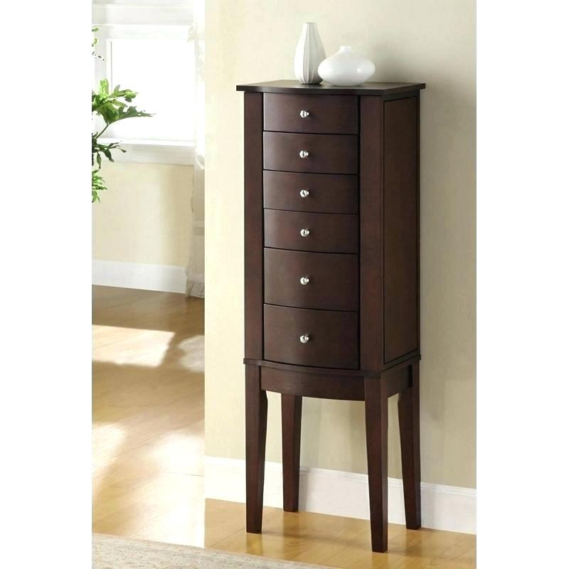 Image of: Wood Modern Jewelry Armoire