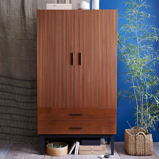 Wood West Elm Armoire