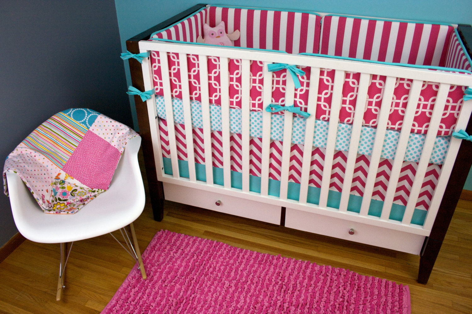 Image of: Beautiful Crib Bedding Sets for Girls