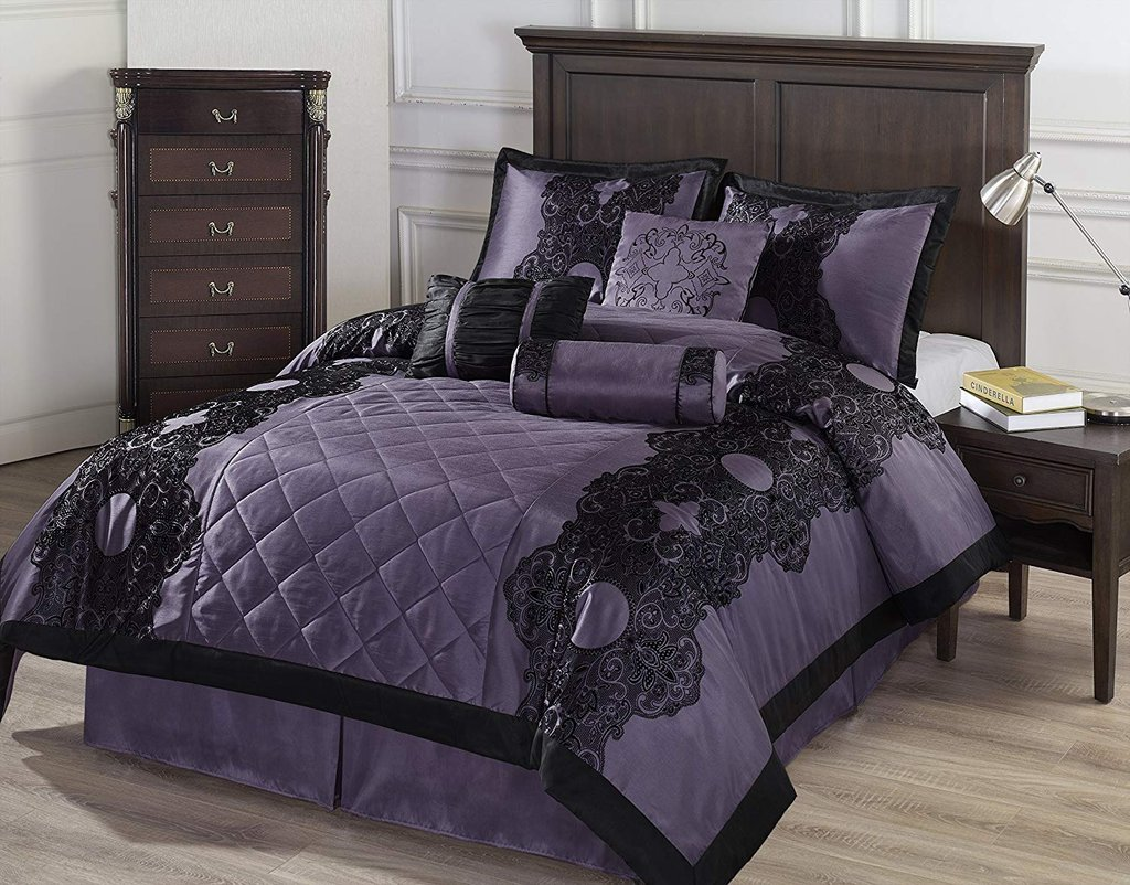 Image of: Black Purple Comforter Bedding Ease Bedding Style Brief Article Teaches You the Ins and Outs of Gothic Bedding and What You Should Do Today