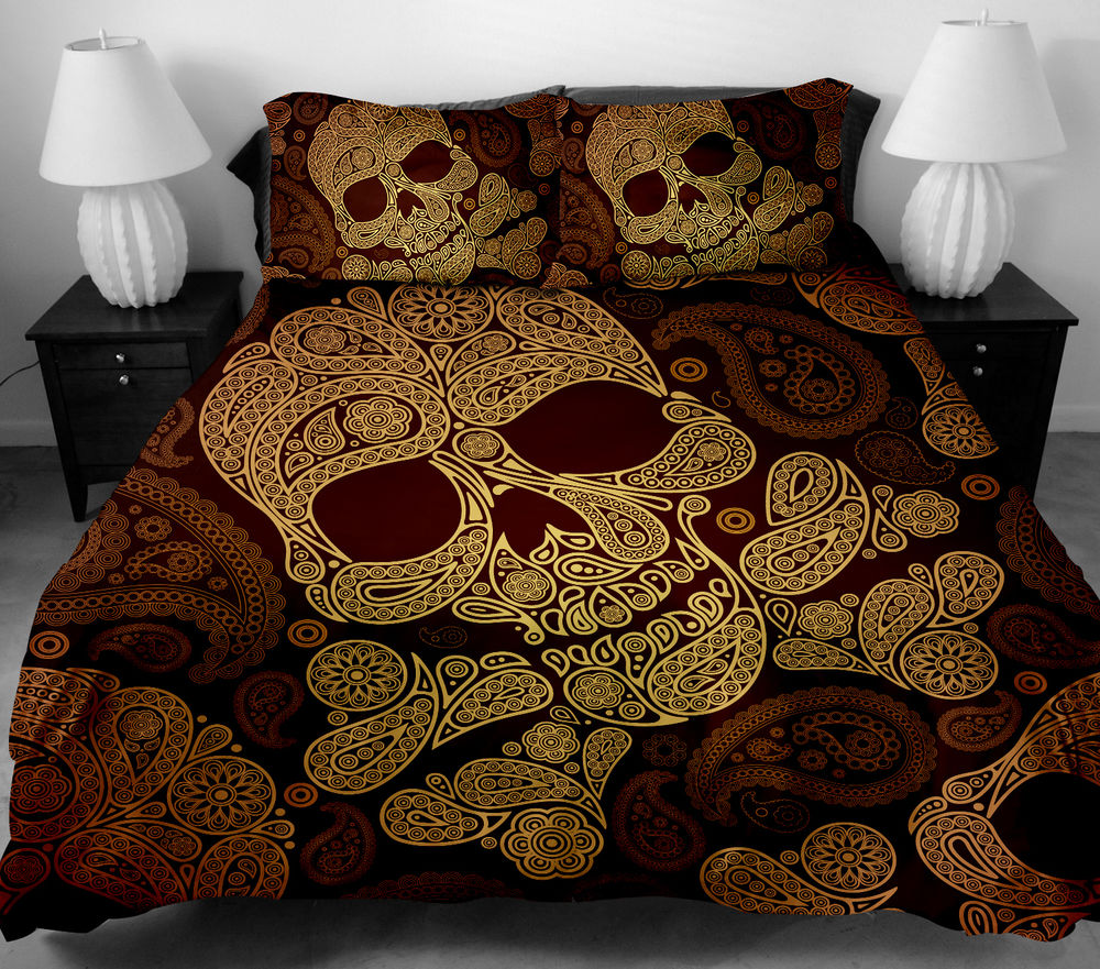 Image of: Cheap Skull Bedding Designs