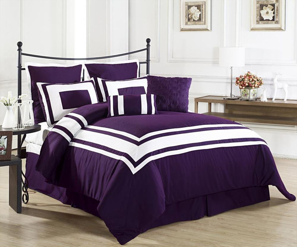 Image of: Dark Purple Bed Sheets Review