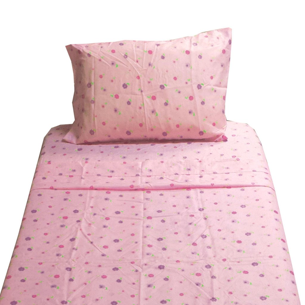 Image of: Dotted Flower Twin Sheet Set Pink Floral Bedding The Space Available for Queen Size Skull Bedding Sets