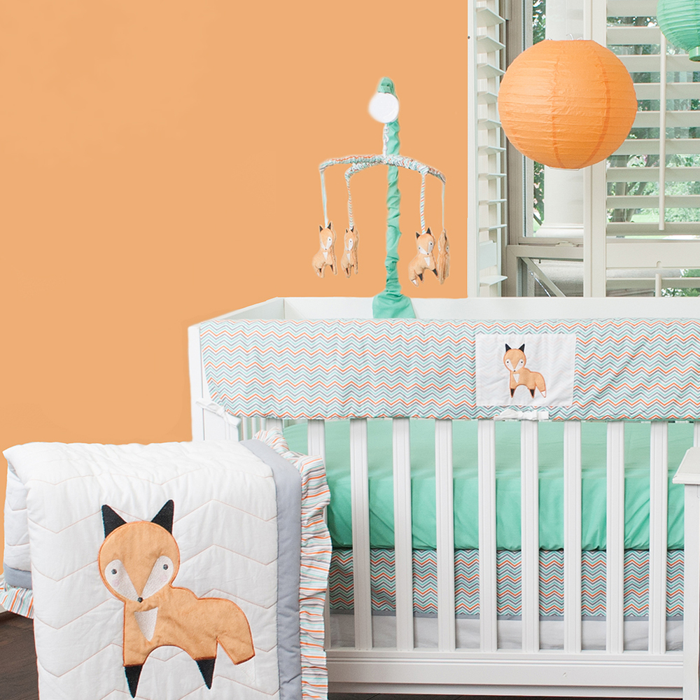 Image of: Friendly Fox Baby Bedding