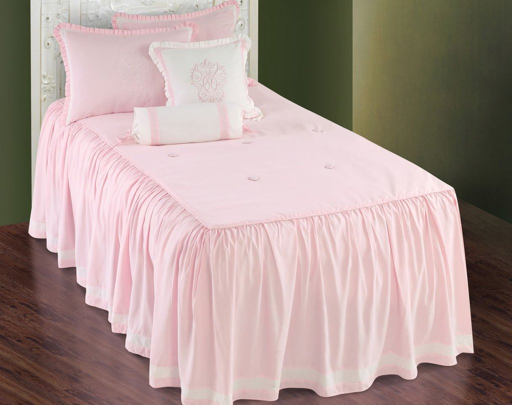 Image of: Hallmart Daphne Pink Comforter Set Girl Pink Pink and White Bedding Set the Color of Girls