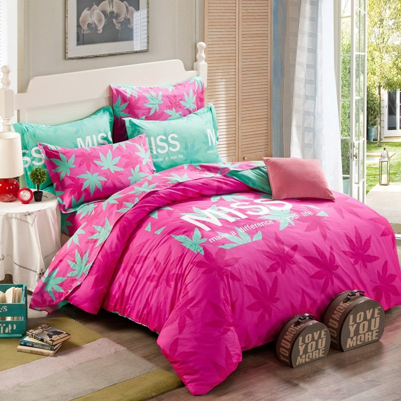 Image of: Pink Comforter Set Size Pink Comforter Sets Dream Pink and White Bedding Set the Color of Girls