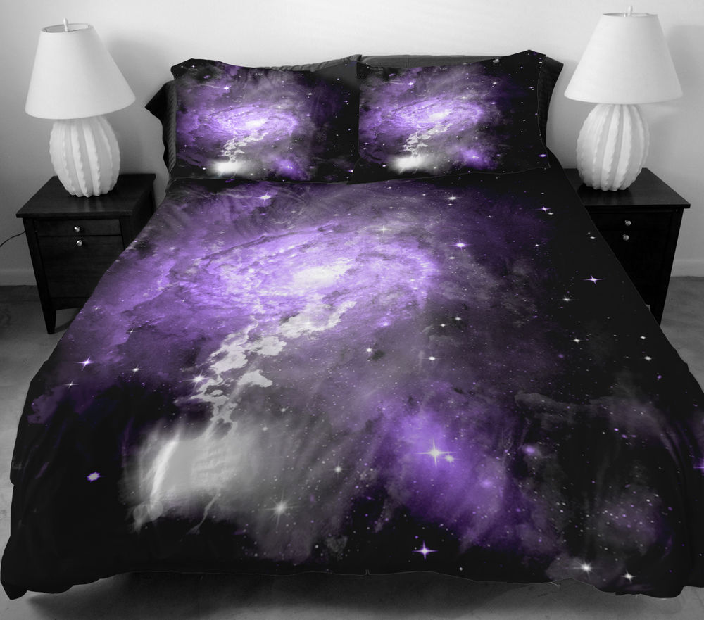 Image of: Purple Skull Bedding