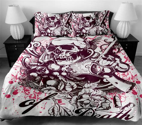 Image of: Queen Size Skull Bedding Sets