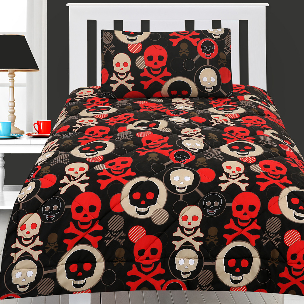Image of: Skull and Crossbones Bedding