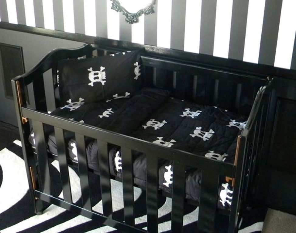 Image of: Skull Baby Bedding Crib Sets