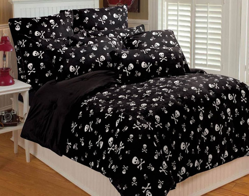 Image of: Skull Bedding Sets Full