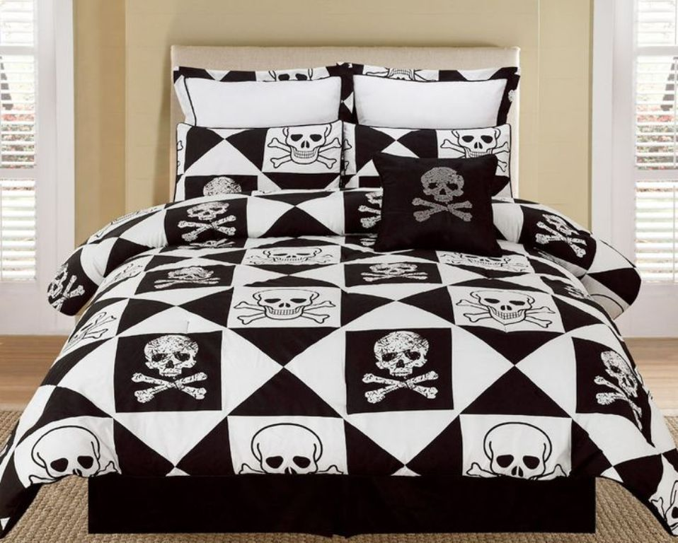 Image of: Skull Bedding Sets