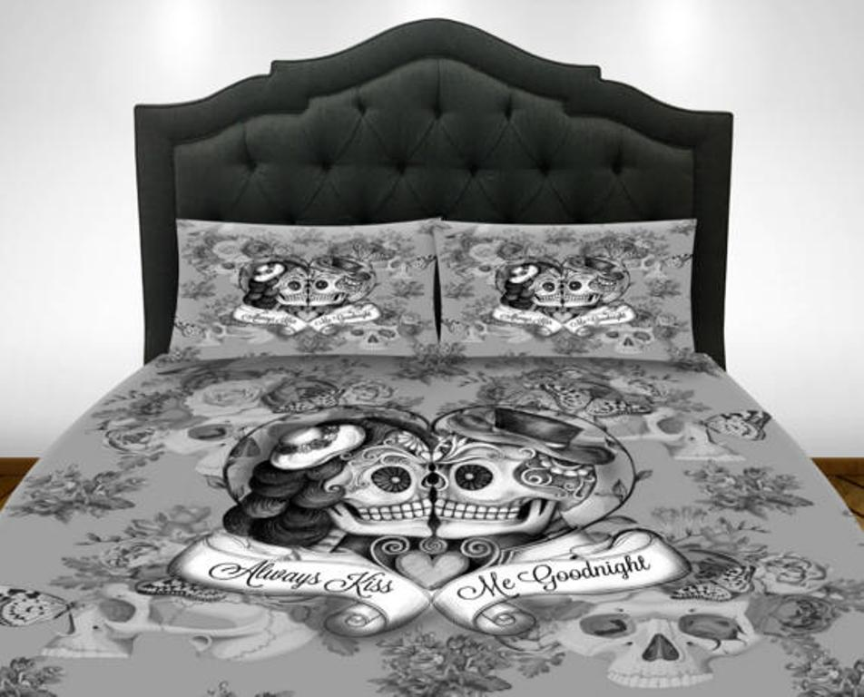 Image of: Skull Comforter Bed Sets