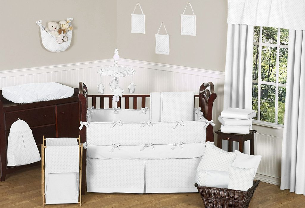 Image of: Solid White 3 Crib Bedding 28 Image Solid Crib Best Teen Girl Bedding Sets