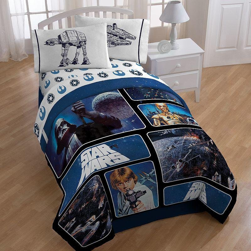 Image of: Star War Reversible Comforter Twin Kohl 39 Epic Create a Star Wars Bedding Full