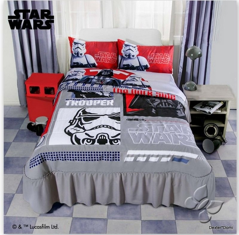 Image of: Star War Trooper Bedding Bedspread Twin Gift Boy Create a Star Wars Bedding Full