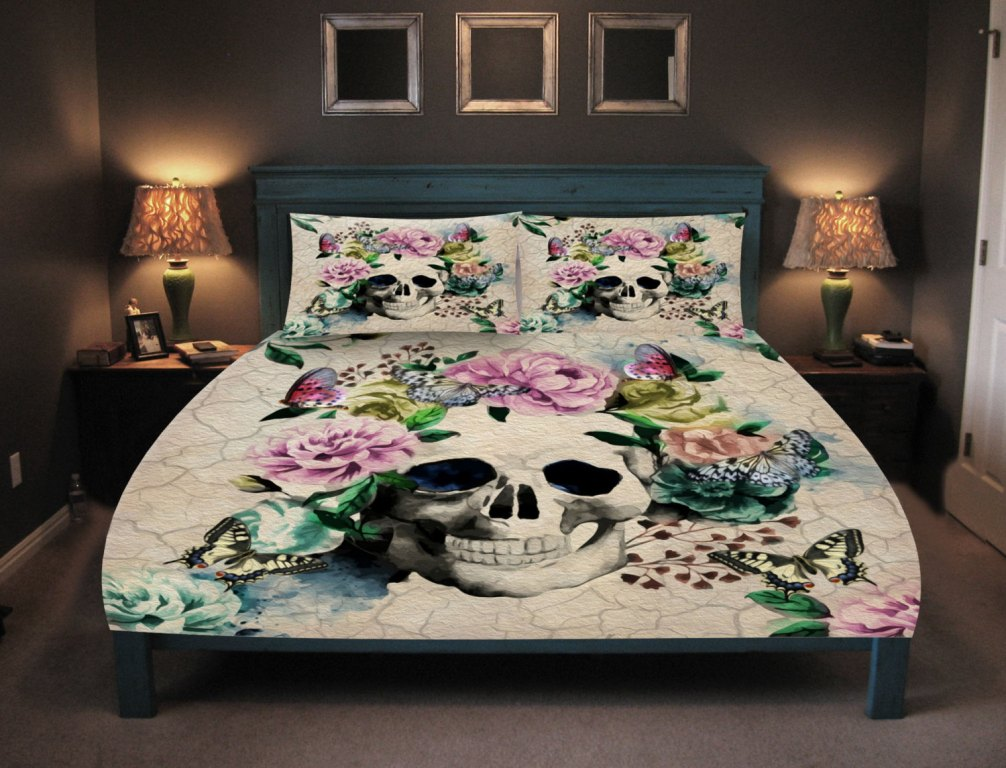 Image of: Sugar Skull Bed Set