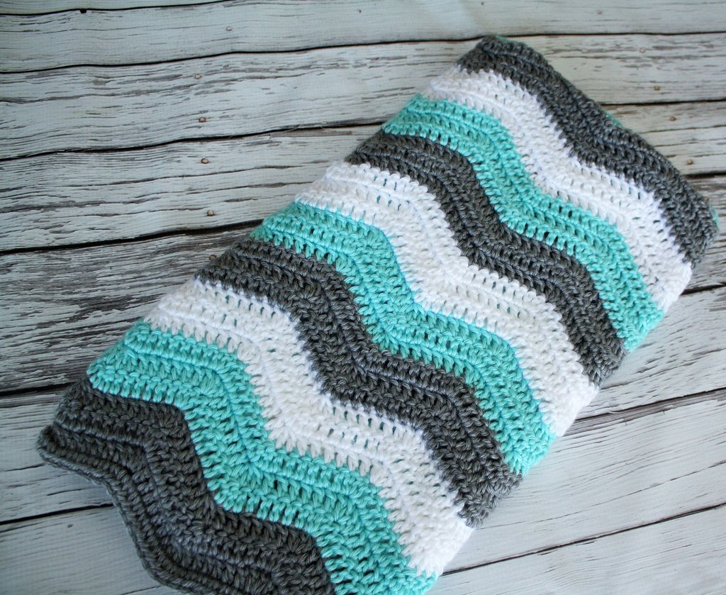 Image of: Teal Grey White Chevron Blanket   Newborn Pink and Teal Baby Bedding 2018