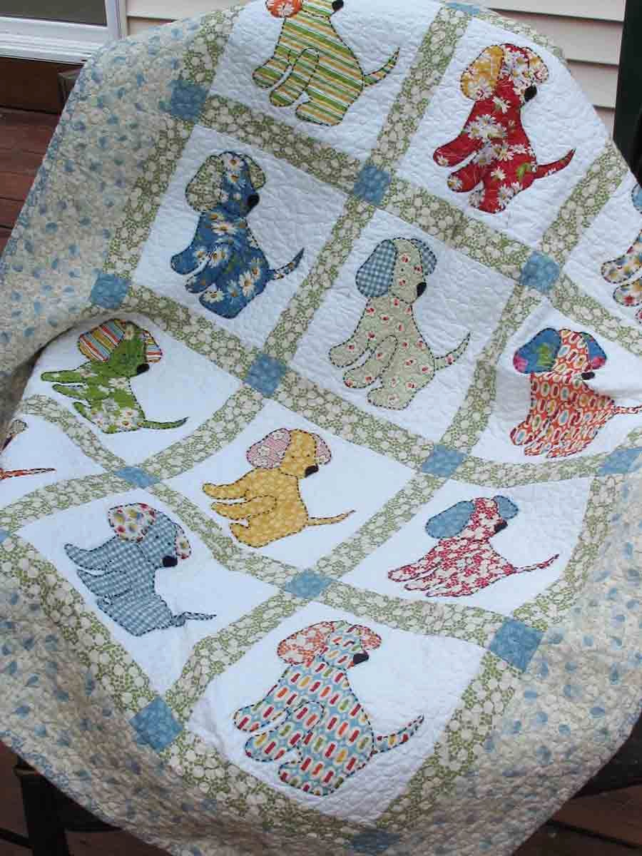 Applique Cross Stitch Baby Quilt Kits