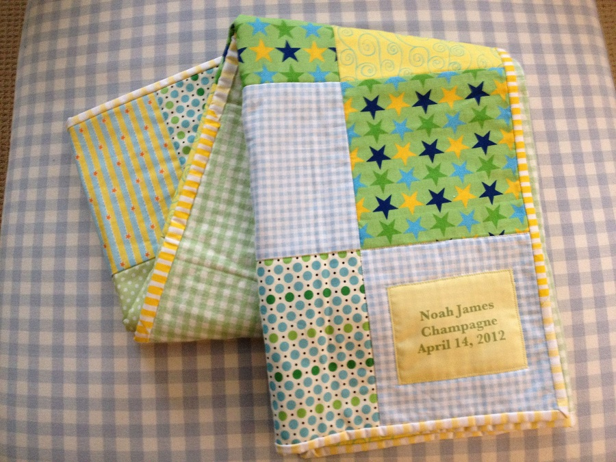Beauty Personalized Baby Quilts