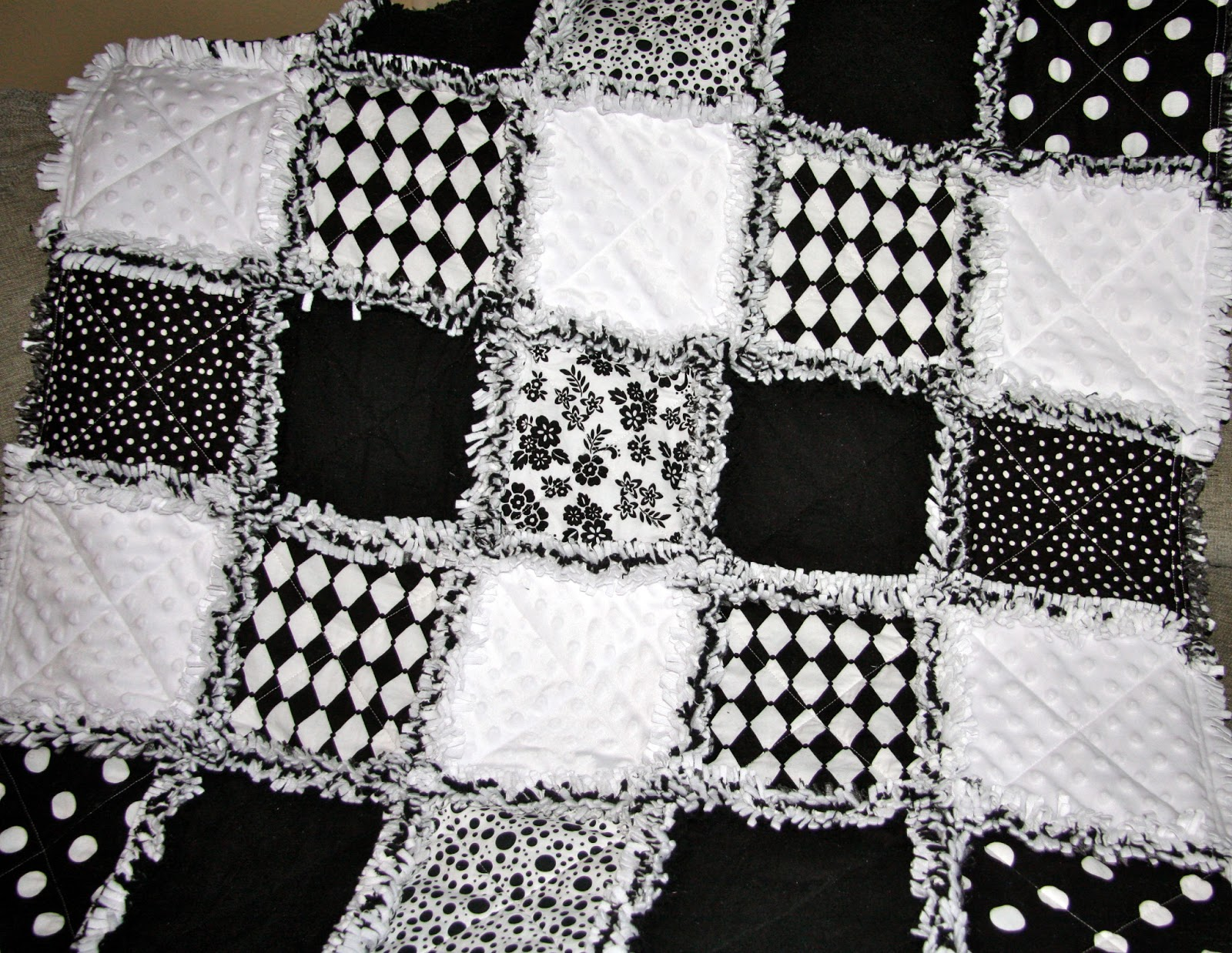 Black And White Quilt Patterns Rag