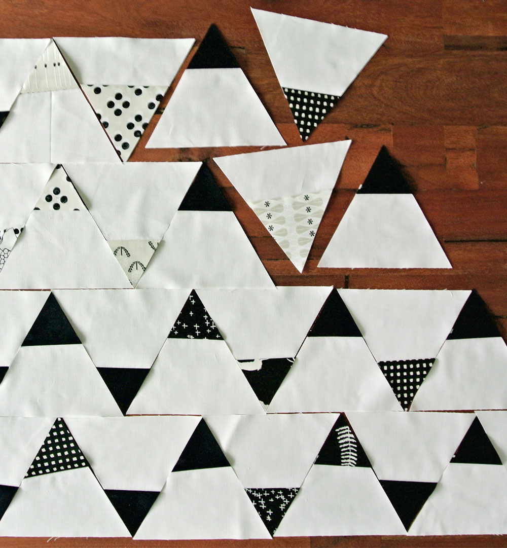 Black And White Triangle Quilt Patterns