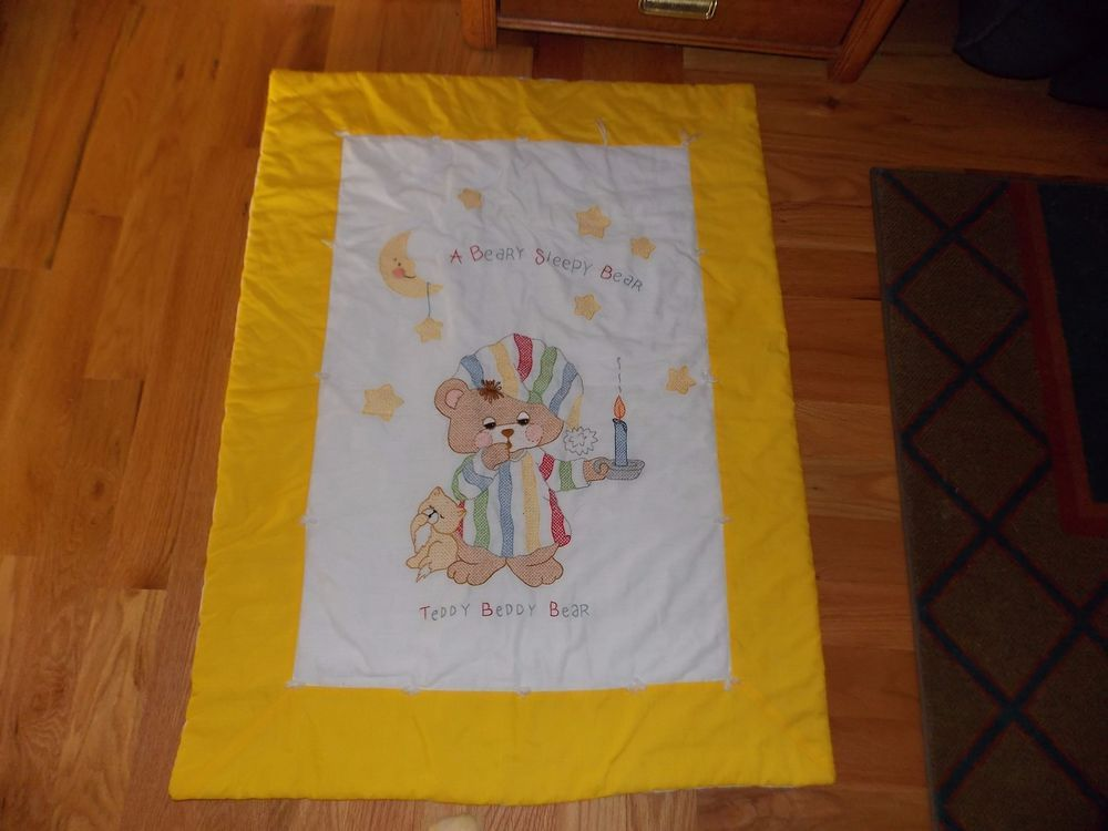 Image of: Bucilla Cross Stitch Baby Quilts