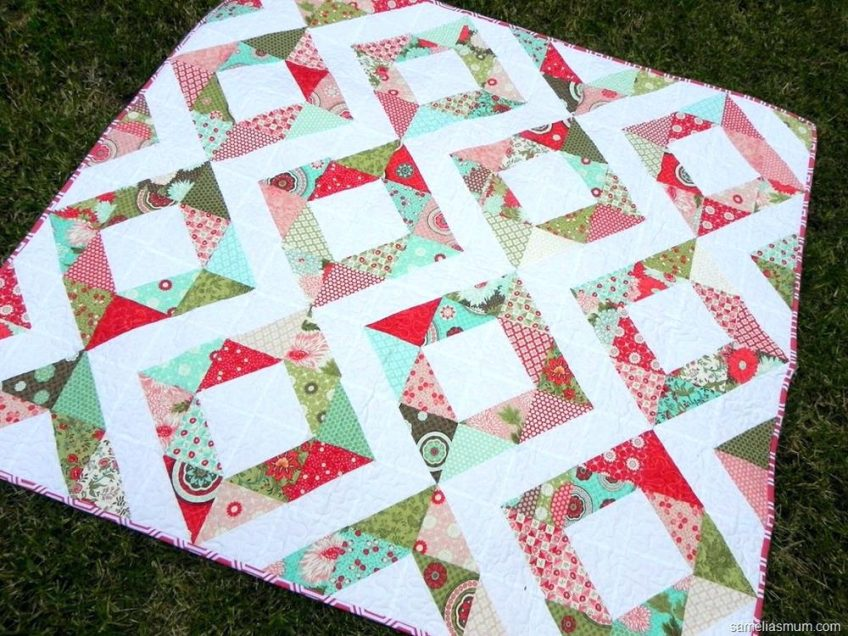 Charm Pack Baby Quilt Color