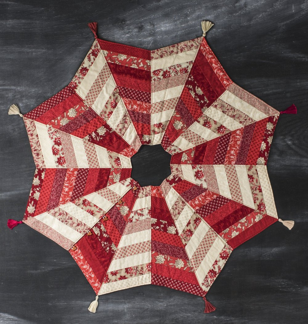 Christmas Quilted Tree Skirt Pattern