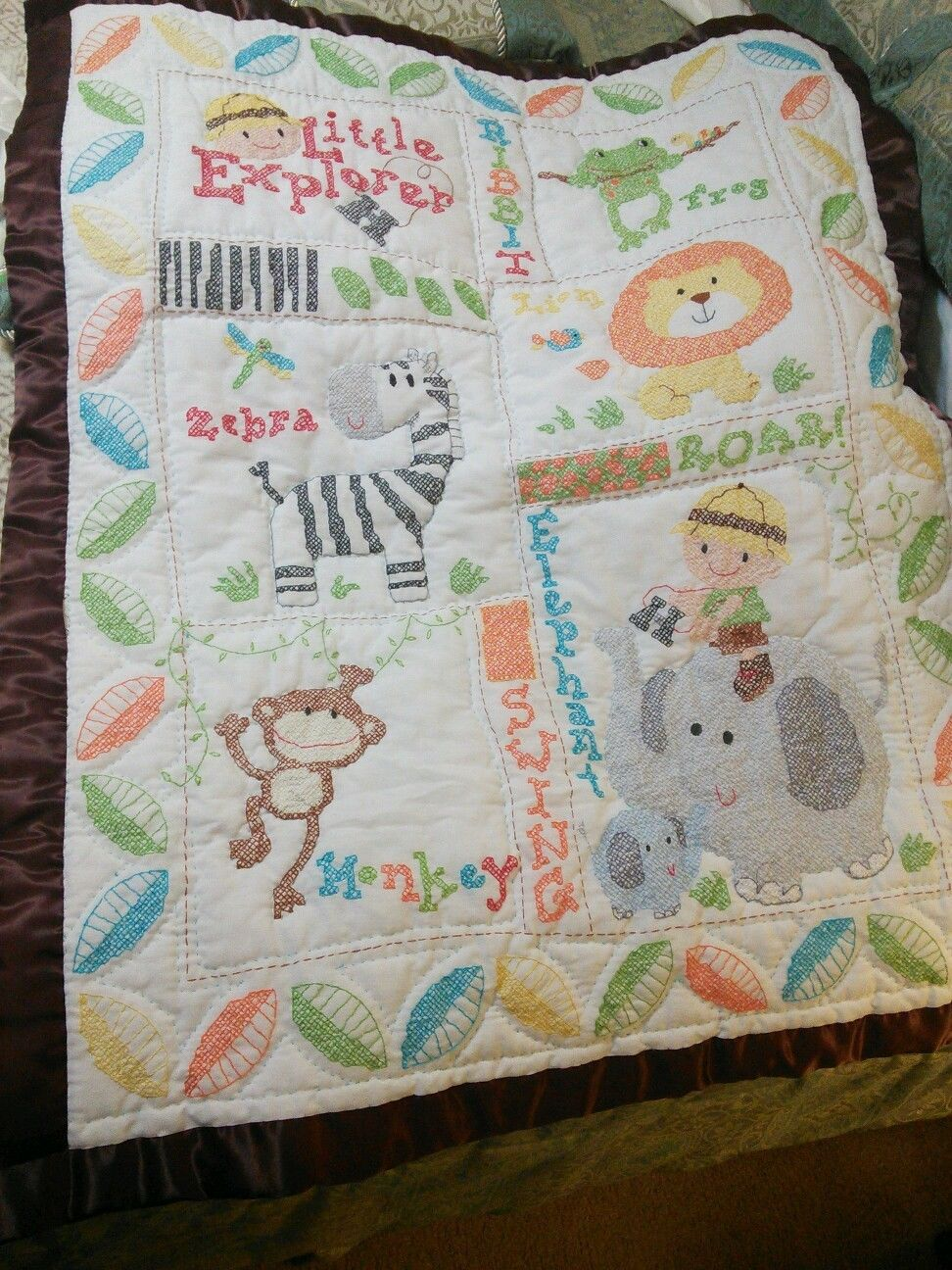 Cross Stitch Baby Quilts And Coverlets