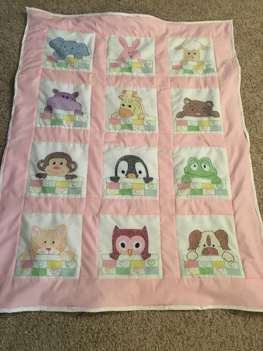 Cross Stitch Baby Quilts Block