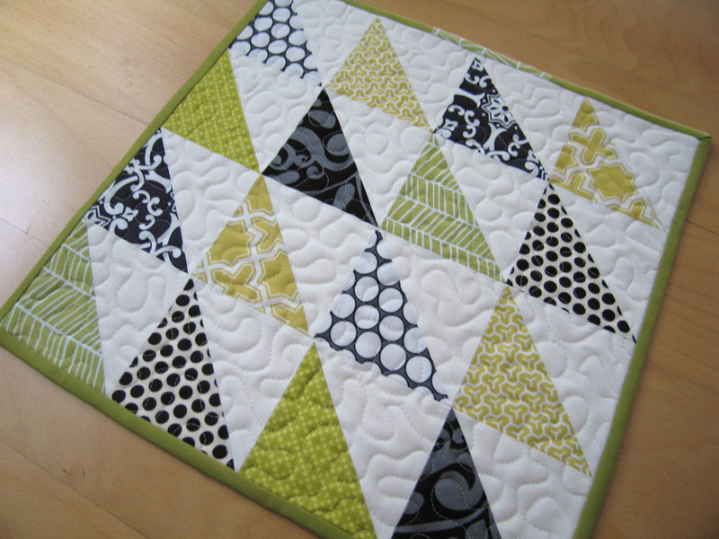 Easy Baby Quilt Patterns Triangle