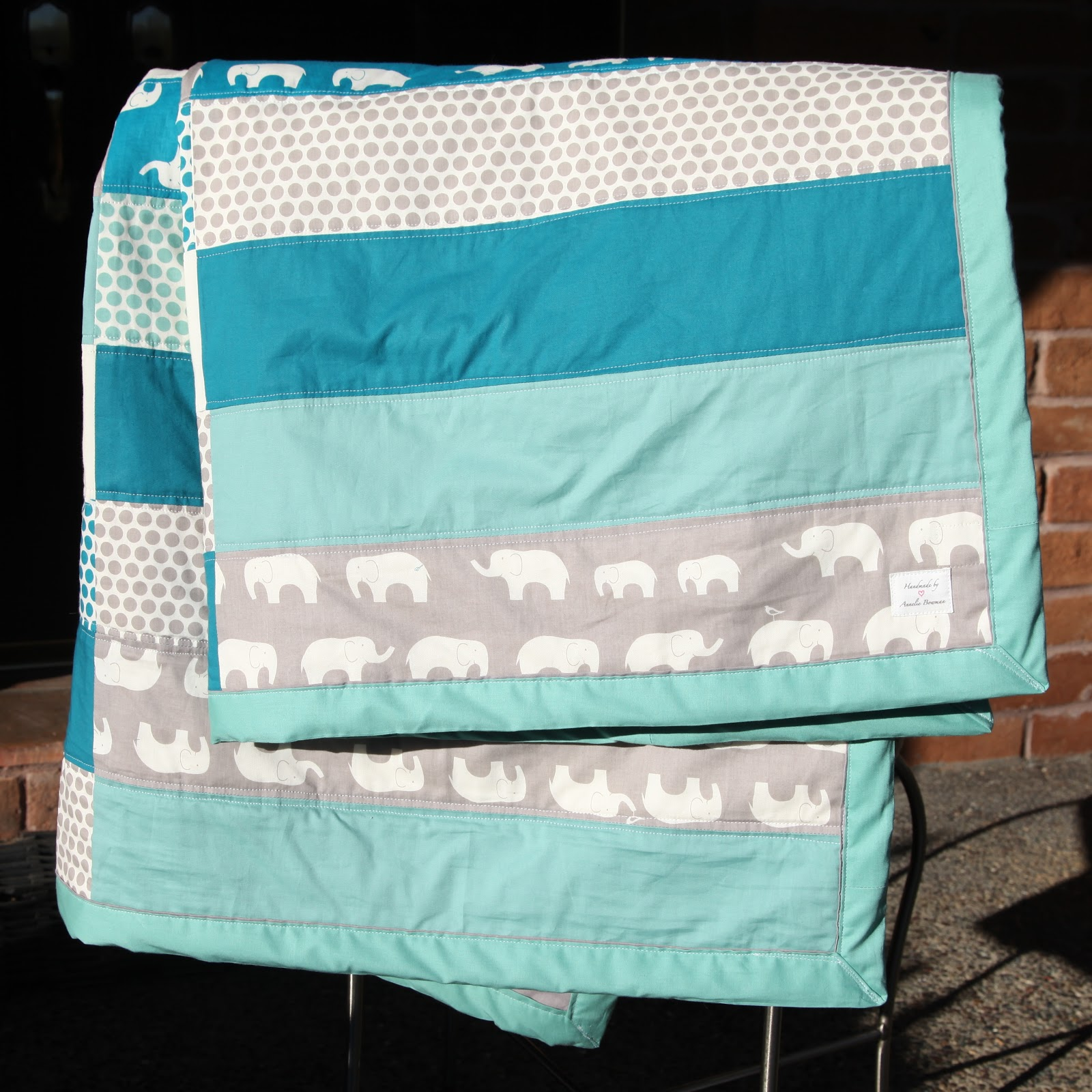 Elephant Baby Quilt Bed
