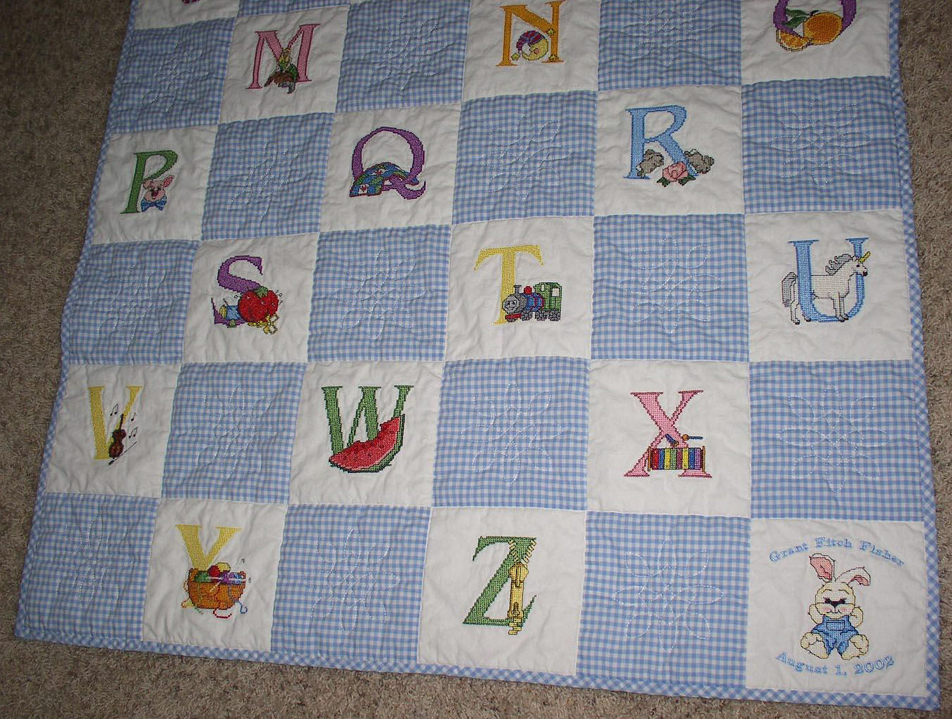 Free Embroidery Cross Stitch Baby Quilts