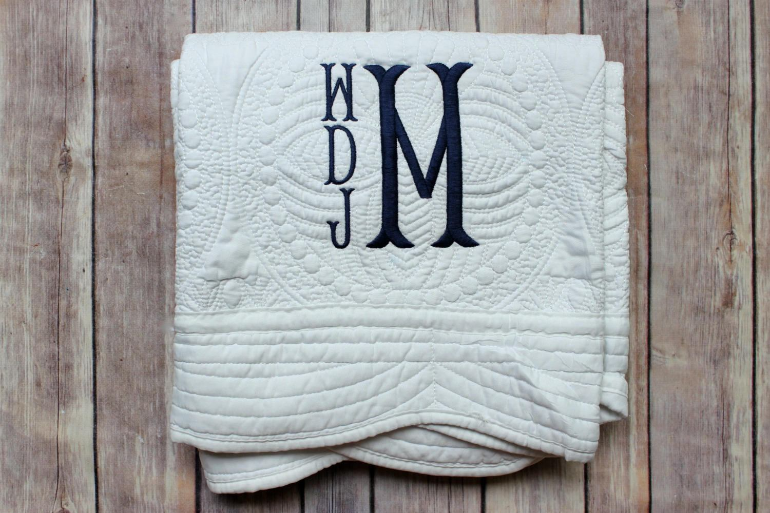 Letter Monogrammed Baby Quilts