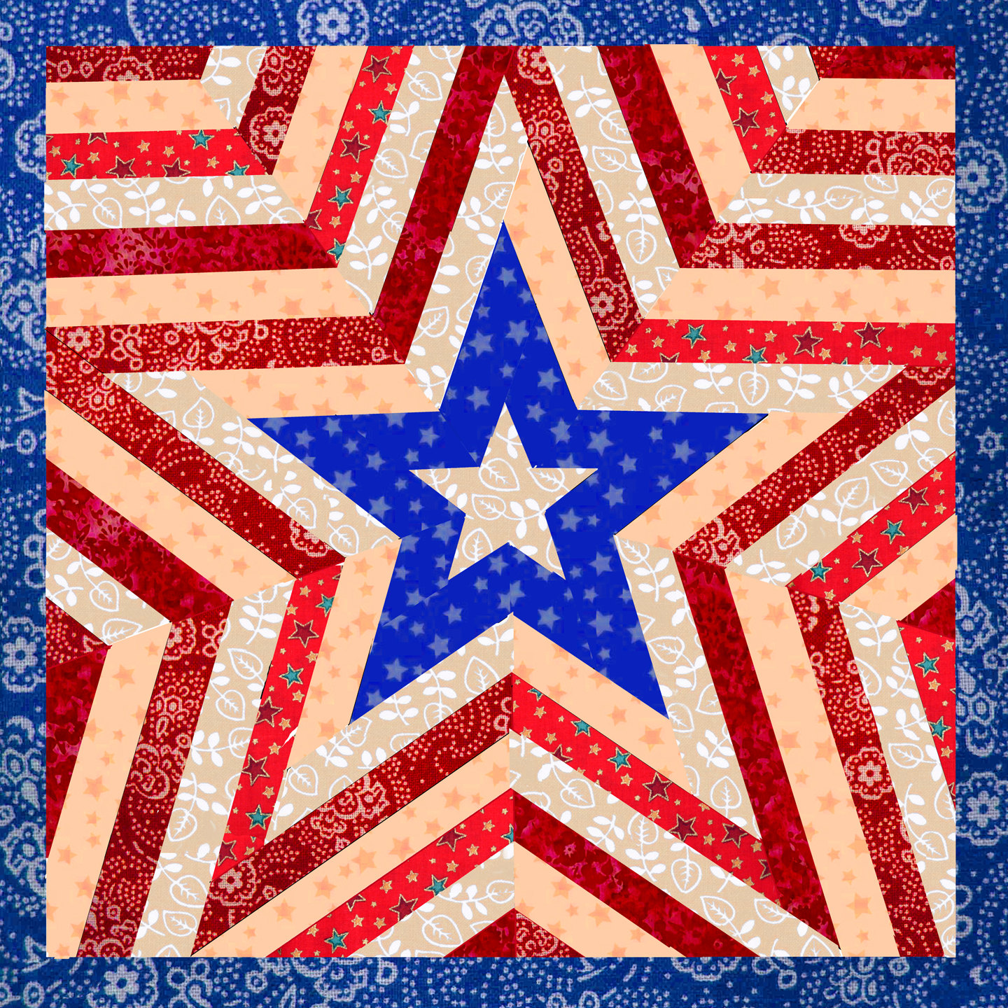 One Star Patriotic Quilt Patterns