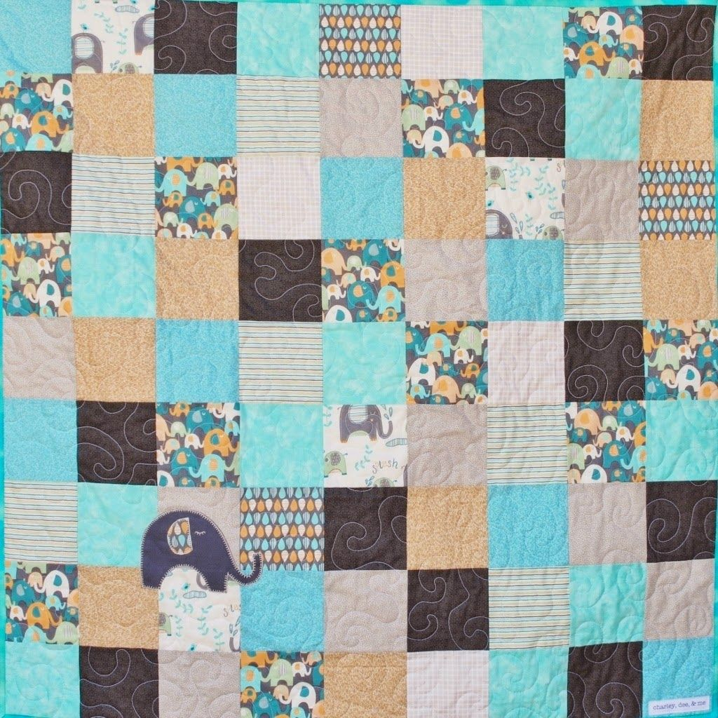 Small Elephant Baby Quilt