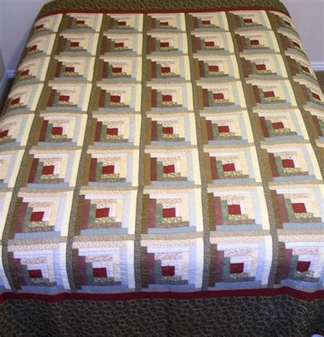 Square Log Cabin Quilt Pattern