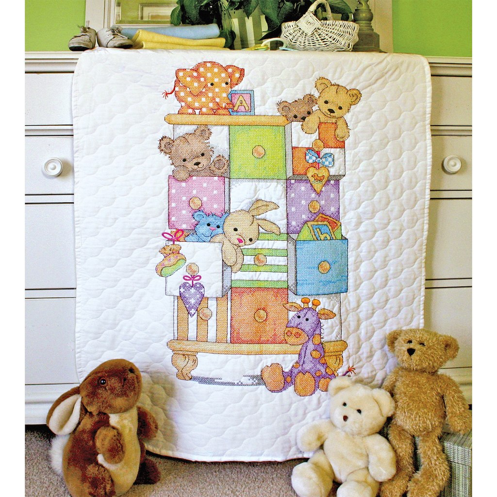 Stamped Cross Stitch Baby Quilts