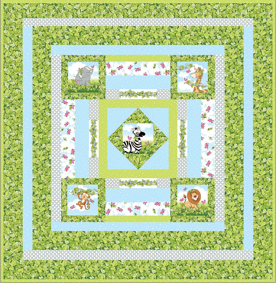 Themed Fabric Panels for Baby Quilts
