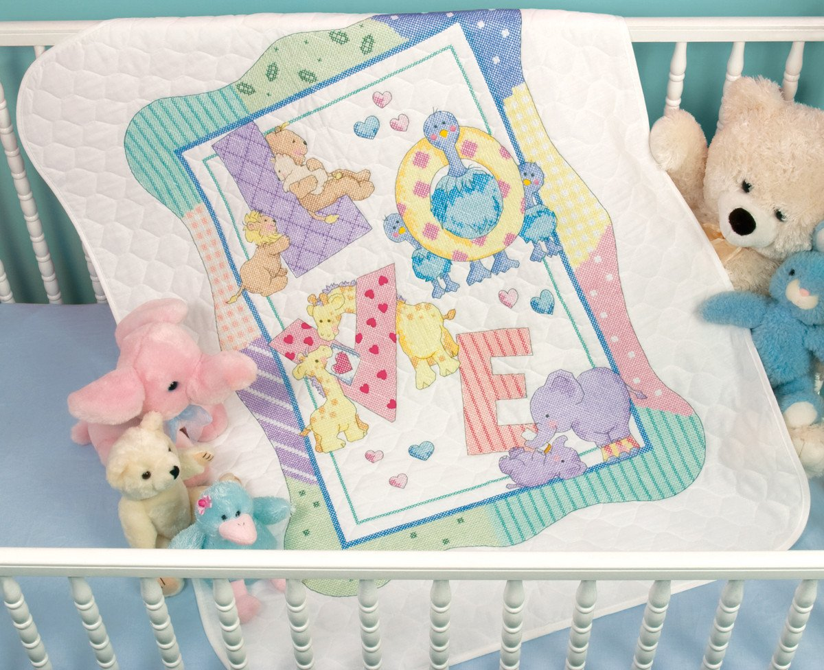 Zoo Alphabet Cross Stitch Baby Quilt Kits