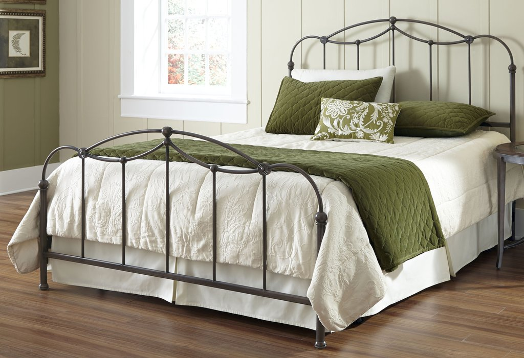 Bedroom Black Wrought Iron Bed Frame Present Eternal Elegant And Cozy Atmosphere Beige Bedding Sets