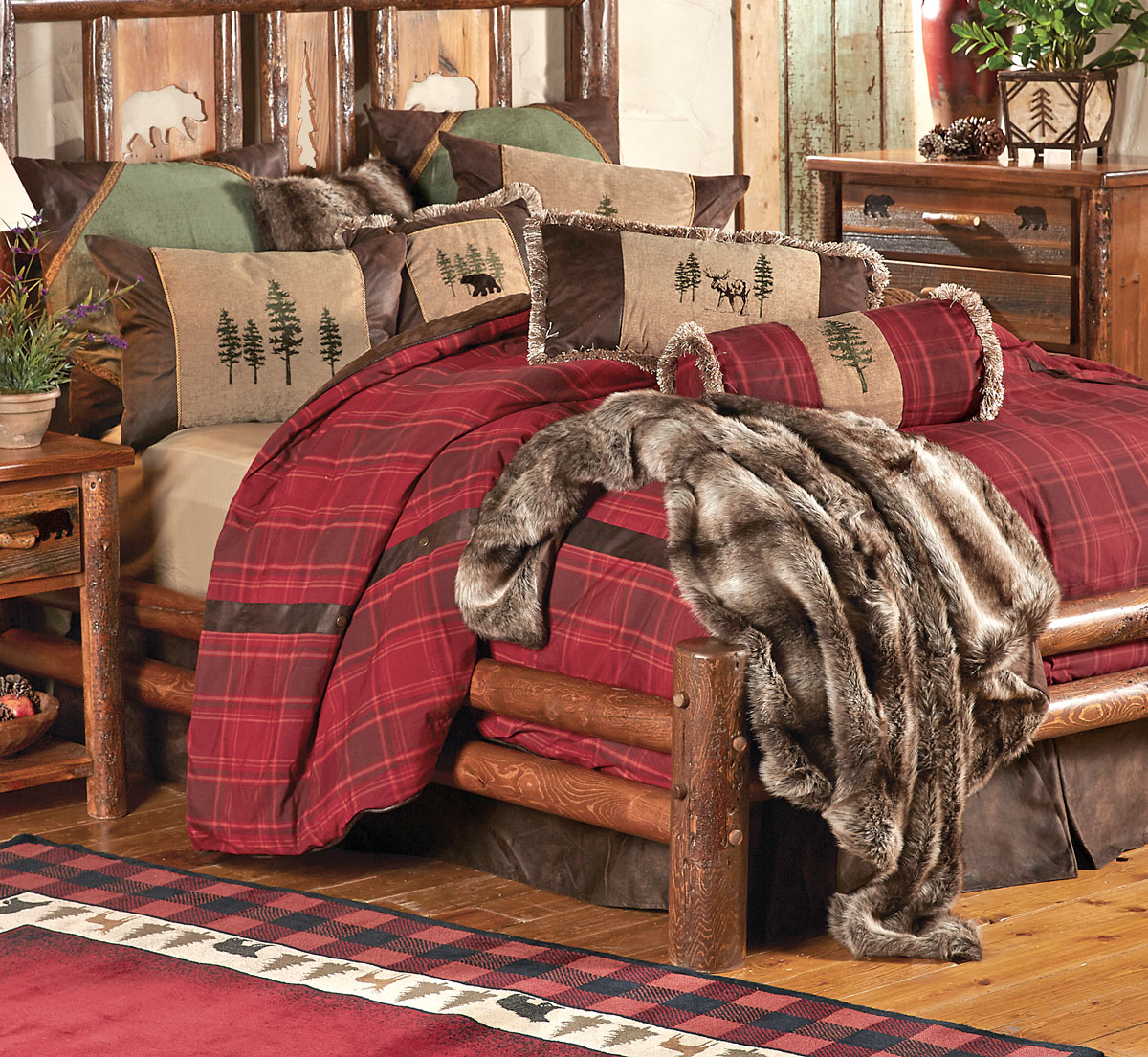 Image of: Cabin Themed Bedding
