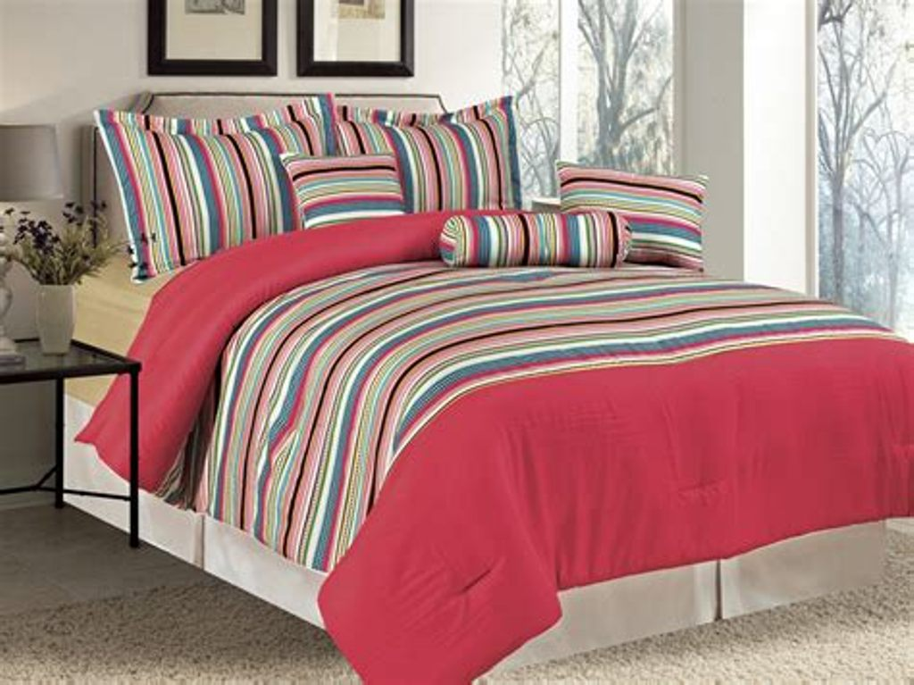 Image of: Cool Rainbow Colored Comforter Sets